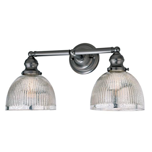 Industrial Bath Light Bath Light Mercury Glass Shade - Two light bathroom sconce