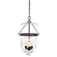 Medium bell jar lantern decorative band with star glass