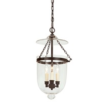 Large bell jar lantern with clear glass
