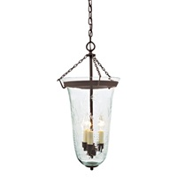 Large elongated bell jar lantern with flower glass