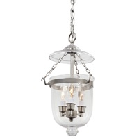Small bell jar lantern with clear glass