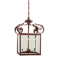 Large scroll lantern with glass