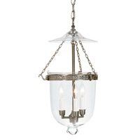 Medium bell jar lantern decorative band with clear glass