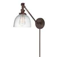 Soho one light double swivel clear bubble Madison wall sconce