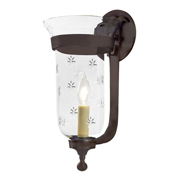 Star bell jar sconce