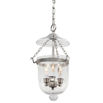 Small bell jar lantern with star glass
