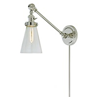 Soho one light double swivel Barclay wall sconce