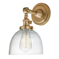 Soho one light swivel clear bubble Madison wall sconce