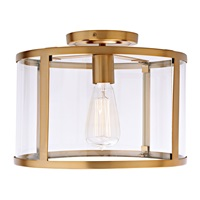 Bryant One Light Semi Flush Ceiling Light