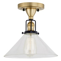 Nob Hill One Light Clear Bailey Ceiling Mount