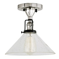 Nob Hill One Light Clear Bubble Bailey Ceiling Mount