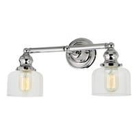 Union Square two light Shyra bathroom wall sconce