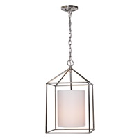Decatur One light hanging pendant with white cylinder shade