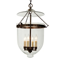 XLarge bell jar lantern decorative band with clear glass