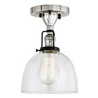 Nob Hill One Light Clear Madison Ceiling Mount