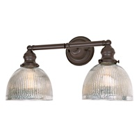 Union Square two light mercury Madison bathroom wall sconce