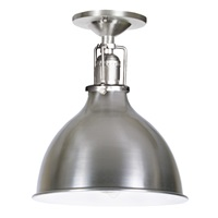"One light Union Square ceiling mount 7"" Wide metal shade, inside finish white"