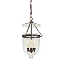 Medium bell jar lantern with star glass
