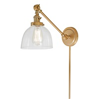 Soho one light double swivel Madison wall sconce