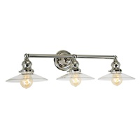 Union Square Three Light Ashbury Bathroom Wall Light