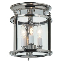 Murray Hill bent glass ceiling lantern - Small