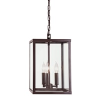 Carnegie three light foyer pendant