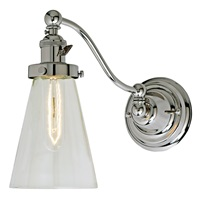 Soho one light half swing Barclay wall sconce