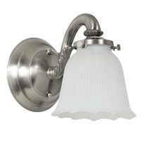 One light bath sconce with glass