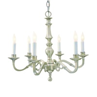 Eight light cast brass chandelier
