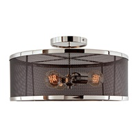 Wellington Three Light Mesh Semi-Flush Mount