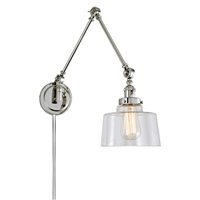 Soho One Light Triple Swing Arm Buffy Wall Sconce
