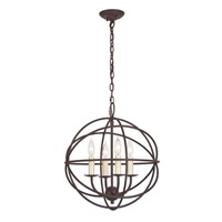 Four light globe chandelier