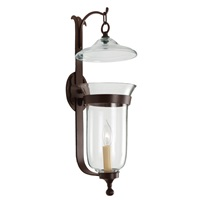 Large Bell Jar Sconce, clear glass