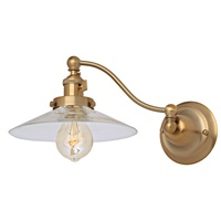 Soho one light half swing Ashbury wall sconce