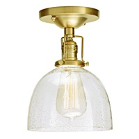 One light Union Square Clear Bubble Madison ceiling mount glass shade
