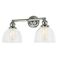 Union Square two light Madison bathroom wall sconce