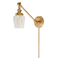 Soho one light double swivel Liberty wall sconce