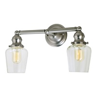 Union Square two light Liberty bathroom wall sconce