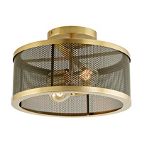 Wellington Two Light Mesh Semi-Flush Mount
