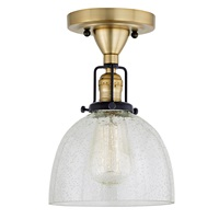 Nob Hill One Light Clear Bubble Madison Ceiling Mount