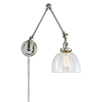 Soho One Light Triple Swing Arm Clear Madison Wall Sconce
