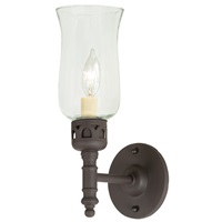 One light brass sconce with glass shade